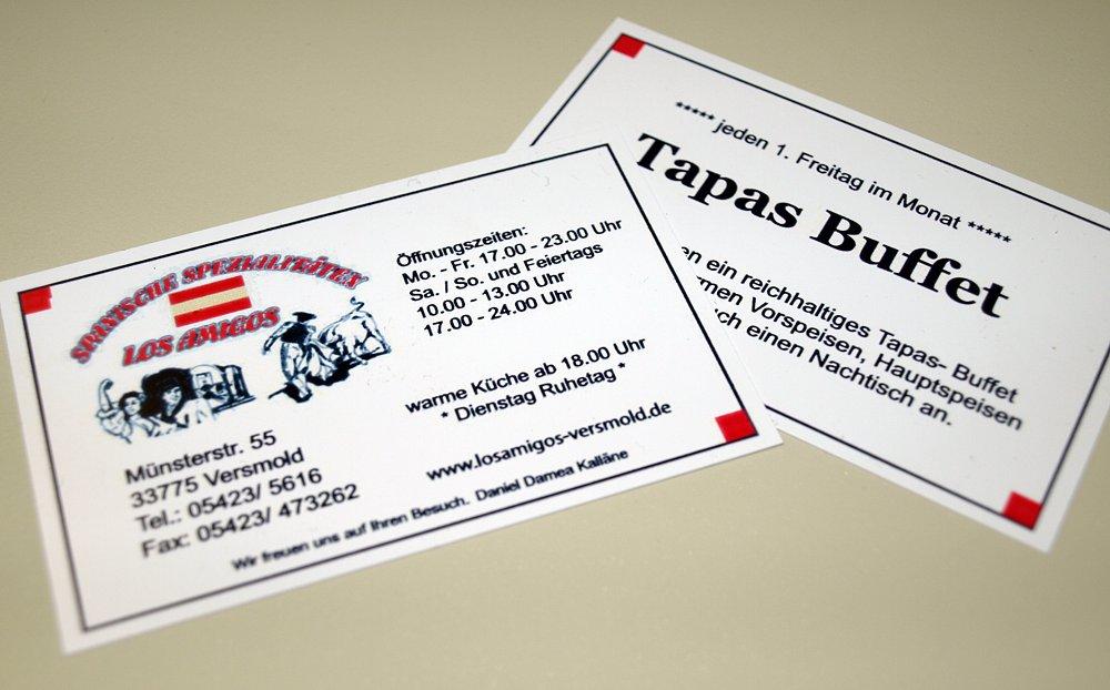 Club Und Visitenkarten Digitaldruck Laminieren